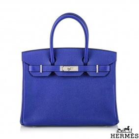 Hermès 30cm Bleu Electric Veau Epsom Birkin Bag